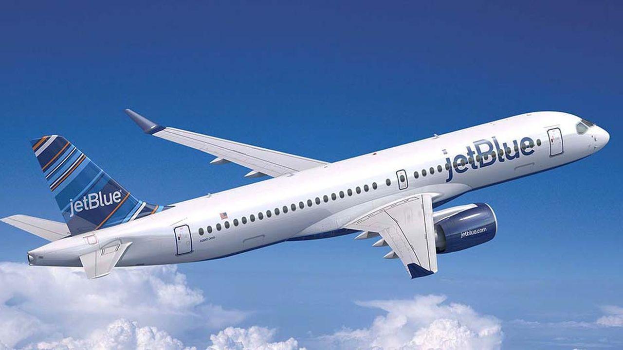 L'Airbus A220-300 commandé à 60 exemplaires par Jetblue n'est autre que l'ex-Cserie de Bombardier repris par Airbus.