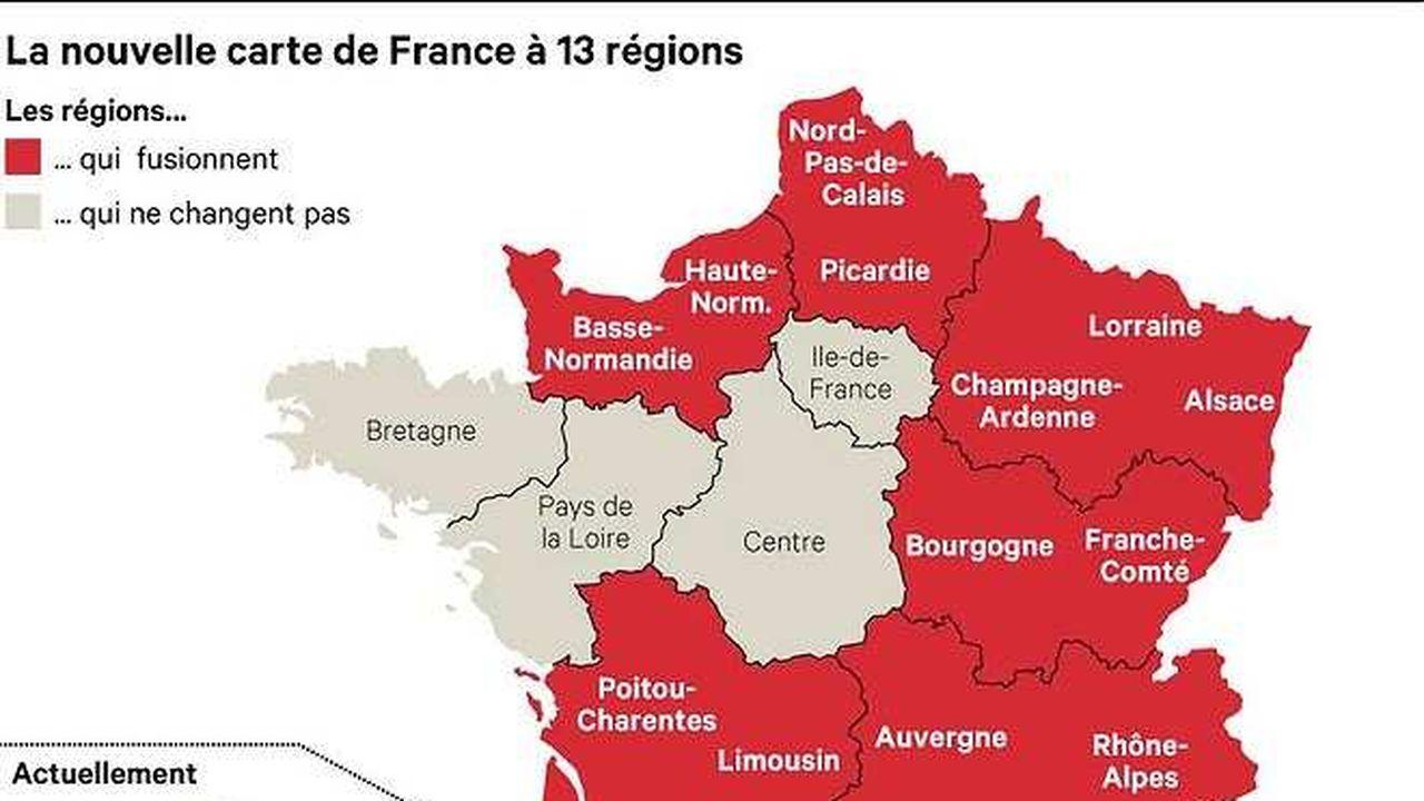 13 régions