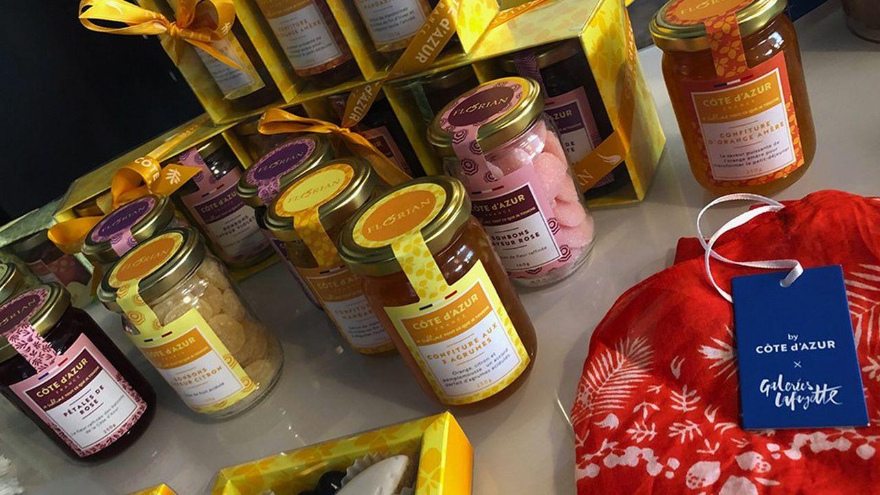 Près de 150 produits jouent la carte de la Côte d'Azur.