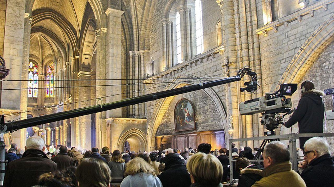 Le dimanche, l'émission «Le jour du Seigneur» pose ses caméras dans une paroisse en France ou à l'étranger. Ici, à l'église de Notre Dame de la Couture, auMans, en janvier2018//GILEMICHEL_10053927/Credit: GILE MICHEL/SIPA/1801231028