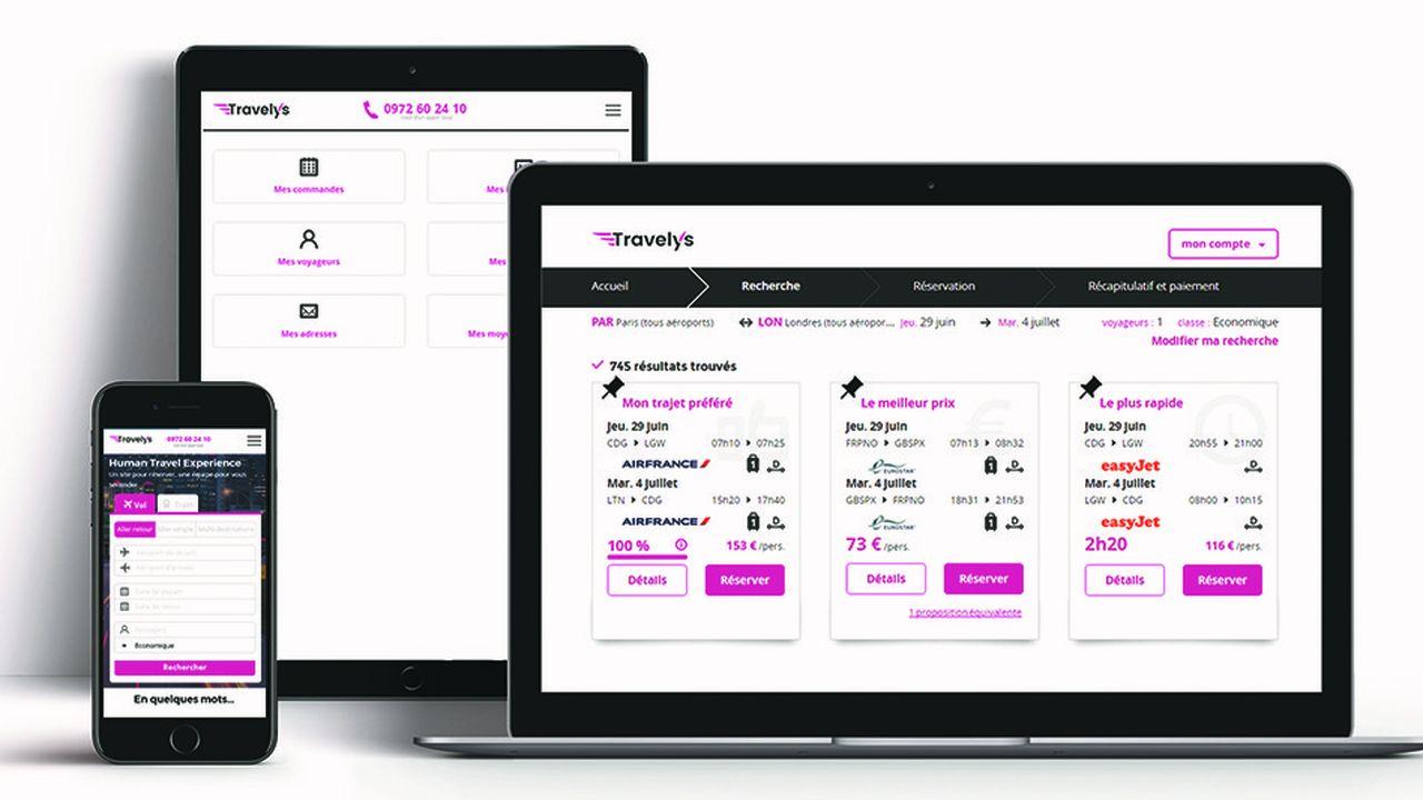 Travelys, la plate-forme en ligne lancée il y a dix-huit mois, fonctionne comme un comparateur de prix classique.