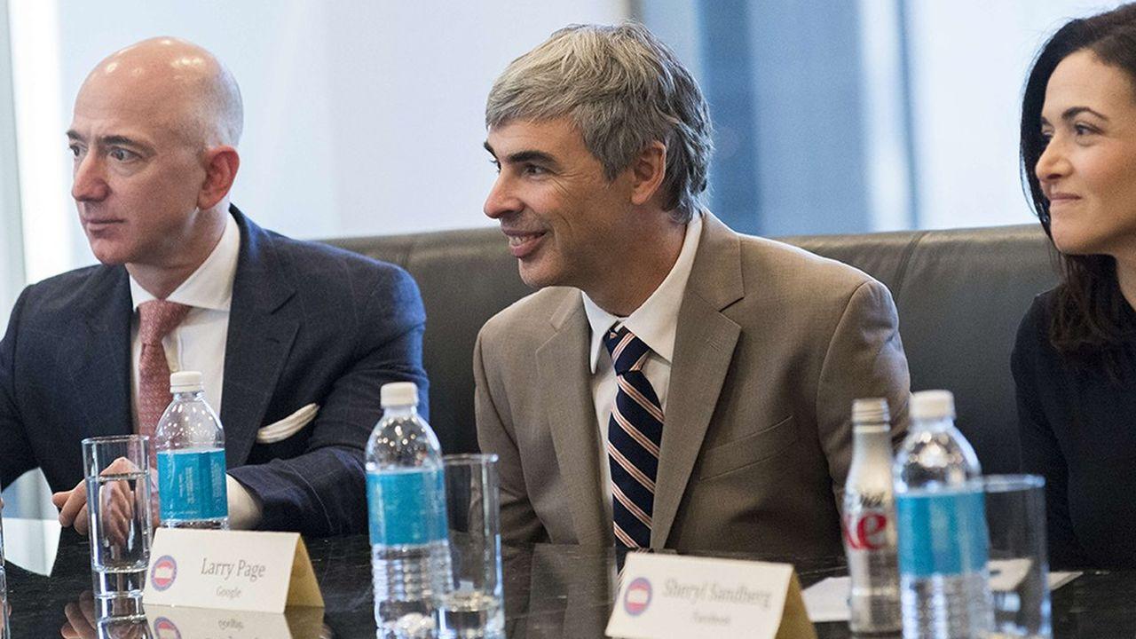 Jeff Bezos, Larry Page et Sheryl Sandberg.