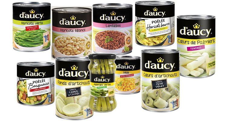 Le groupe coopératif d'Aucy possède la marque de légumes du même nom.