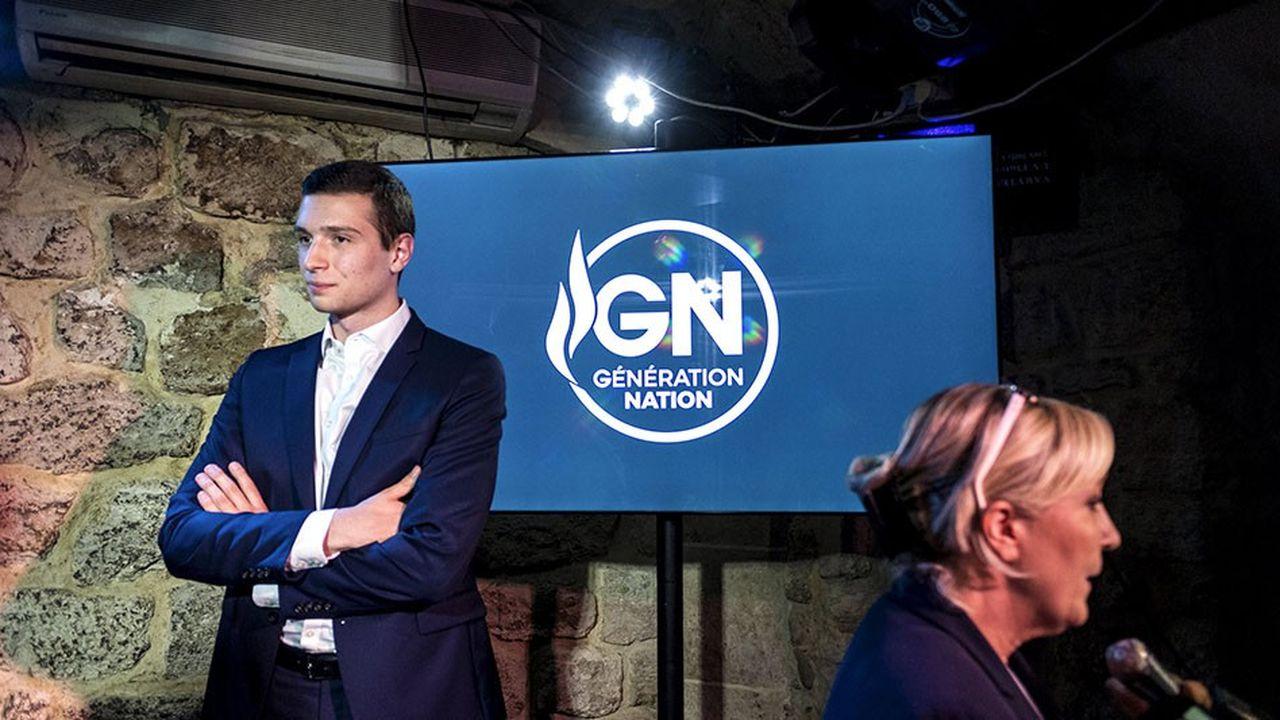 Le Rassemblement national, ex-Front national, a opté pour la jeunesse en nommant Jordan Bardella conseiller général d'Ile-de-France, âgé de 23 ans, à la tête de la liste RN aux prochaines élections européennes de mai.