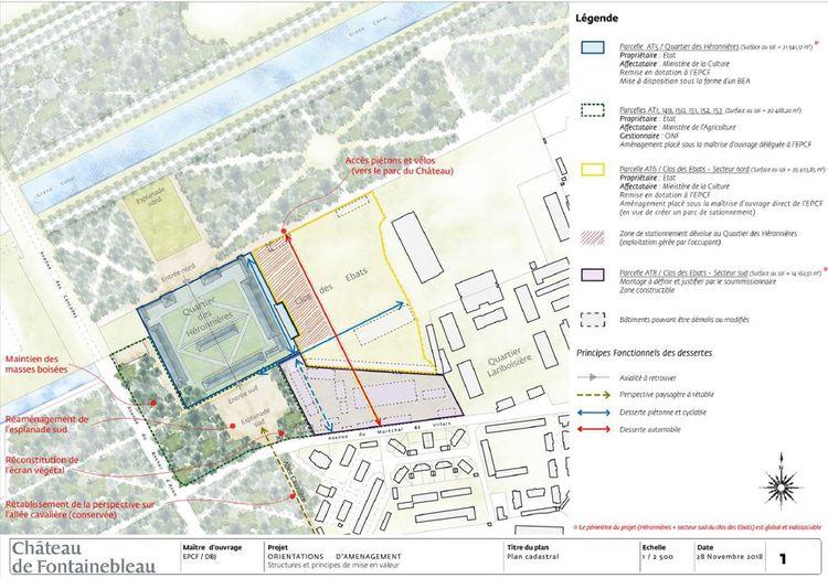 Le plan d'orientations d'aménagement paysager et urbain du projet de reconversion du quartier des Héronnières et de son proche environnement.