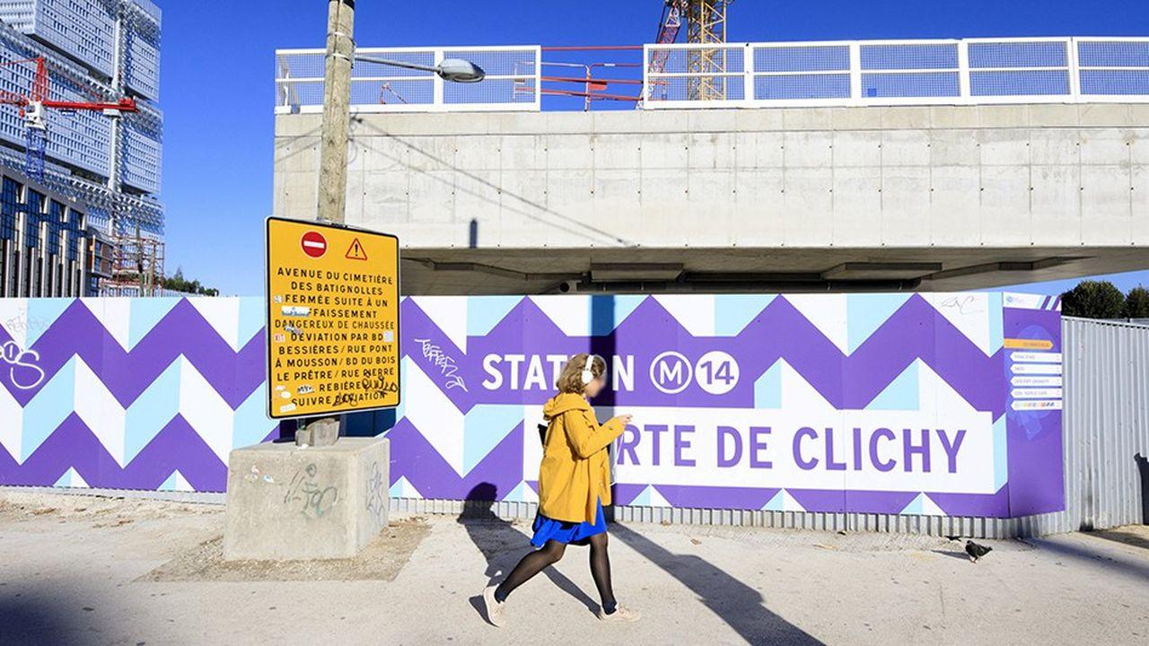 La RATP a prévu quelque 700.000 heures d'insertion sur les chantiers de prolongement de la ligne 14 du métro parisien intégrée au Grand Paris Express.