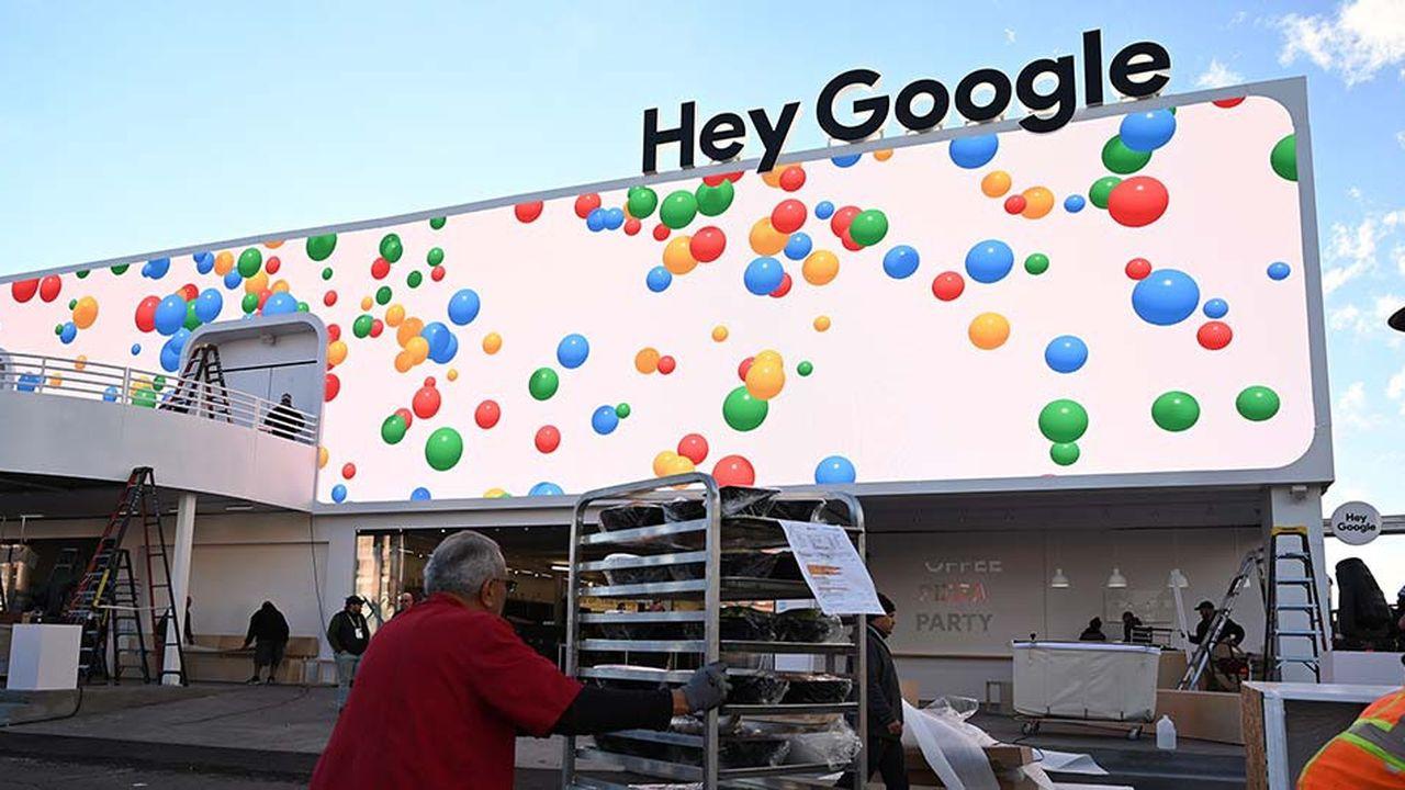 Lors de l'édition 2019 du CES, Google défendra notamment son assistant vocal sur un stand de plus de 5.000 mètres carrés payé à prix d'or auprès des organisateurs. (Photo by Robyn Beck/AFP)