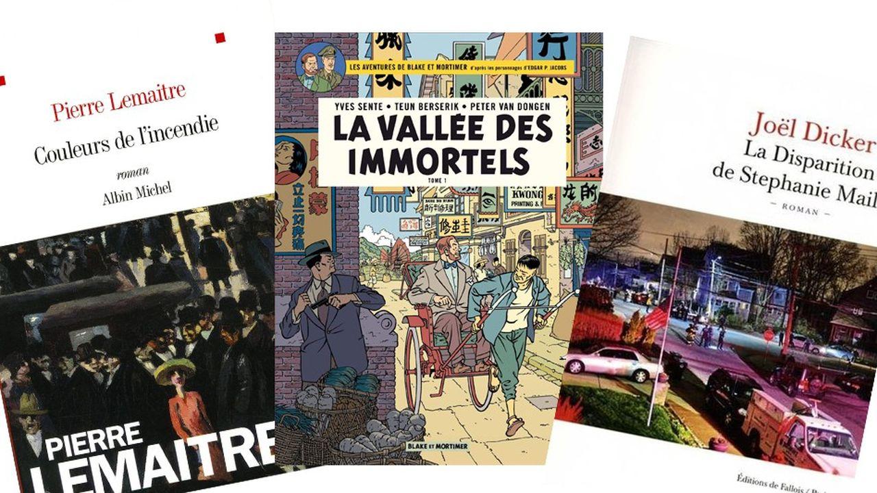 Les trois titres font partie des 10meilleures ventes en librairie en 2018, qu'il s'agisse de littérature ou de BD.