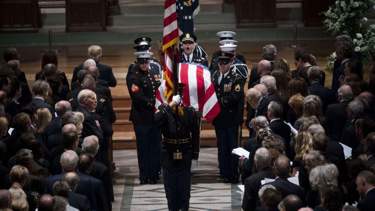 Lors des obsèques de l'ancien président George H.W. Bush, en décembre dernier, l'ambassadeur de l'UE à Washington avait vu son statut diplomatique rétrogradé