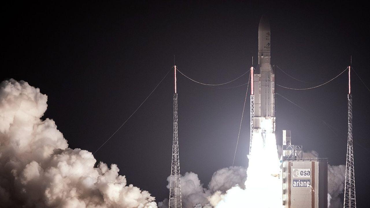 Décollage d'Ariane 5 à Kourou le 19octobre 2018 pour la mise en orbite de la mission Bepi Colombo sur l'étude de Mercure.