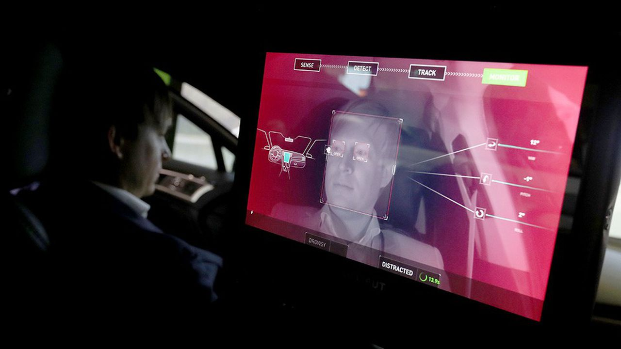 LAS VEGAS, NEVADA - JANUARY 08: A camera monitors the driver of an Nvidia self-driving car inside the Nvidia booth during CES 2019 at the Las Vegas Convention Center on January 8, 2019 in Las Vegas, Nevada. CES, the world's largest annual consumer technology trade show, runs through January 11 and features about 4,500 exhibitors showing off their latest products and services to more than 180,000 attendees. Justin Sullivan/Getty Images/AFP