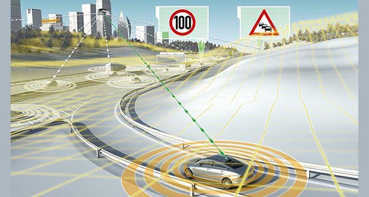 Le système de Continental permet à un conducteur de «voir» au-delà ce qu'il voit naturellement.