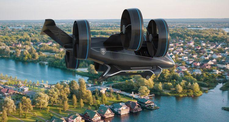 Assez encombrant tout de même, doté de six hélices orientables, le taxi aérien, le Bell Nexus est doté de systèmes de propulsion hybrides