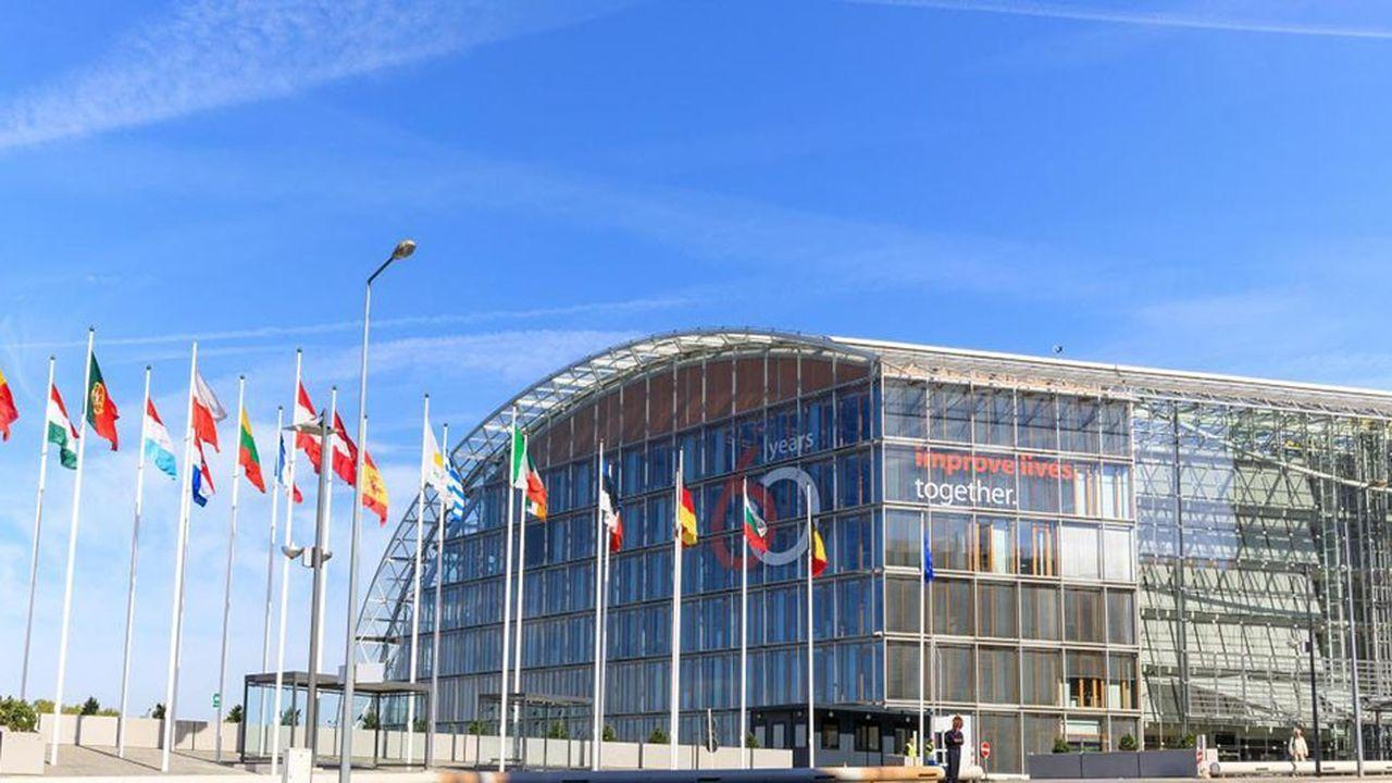 Le siège de la Banque européenne d'investissement (BEI), àKirchberg (Luxembourg).