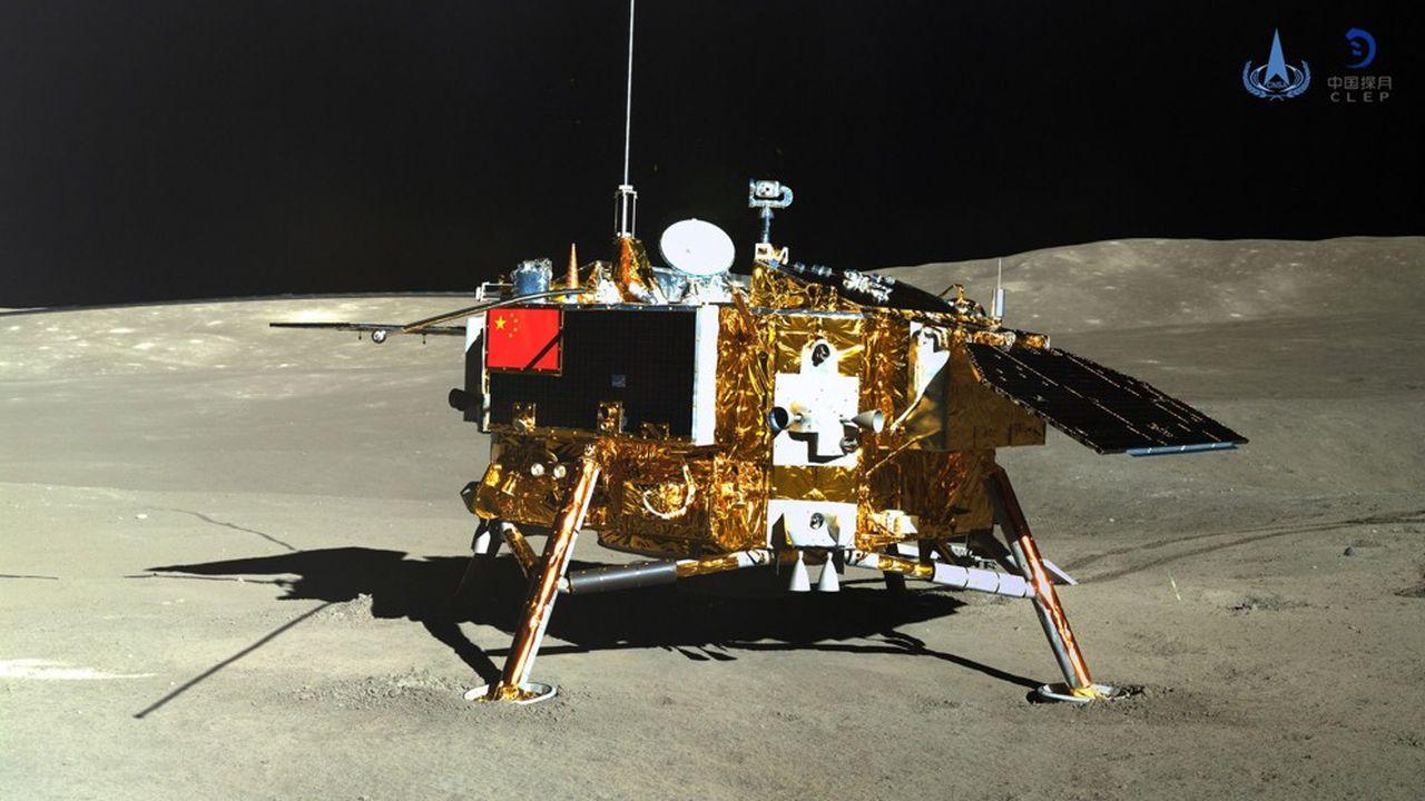 Vendredi 11janvier, la Chine a publié une photo du module d'exploration chinois Chang'e-4 qui, pour la première fois, s'est posé sur la face cachée de la Lune.