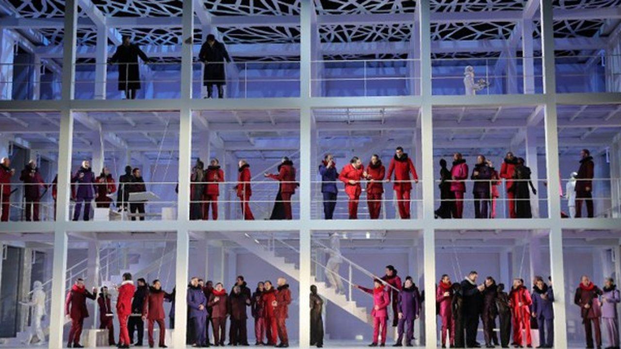 Répétition de l'opéra de Meyerbeer, 'Les Huguenots', à l'Opéra Bastille en septembre 2018