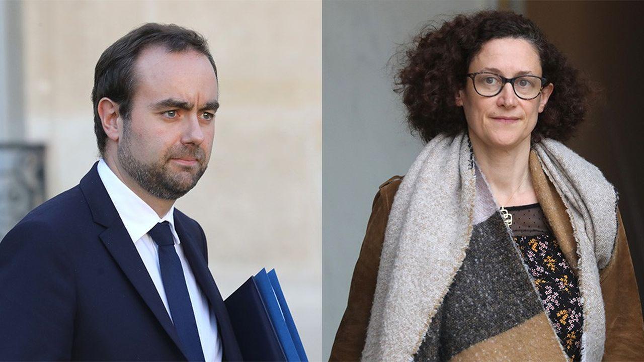 Sébastien Lecornu, le ministre chargé des Collectivités territoriales, et Emmanuelle Wargon, la secrétaire d'Etat auprès du ministre de la Transition écologique.