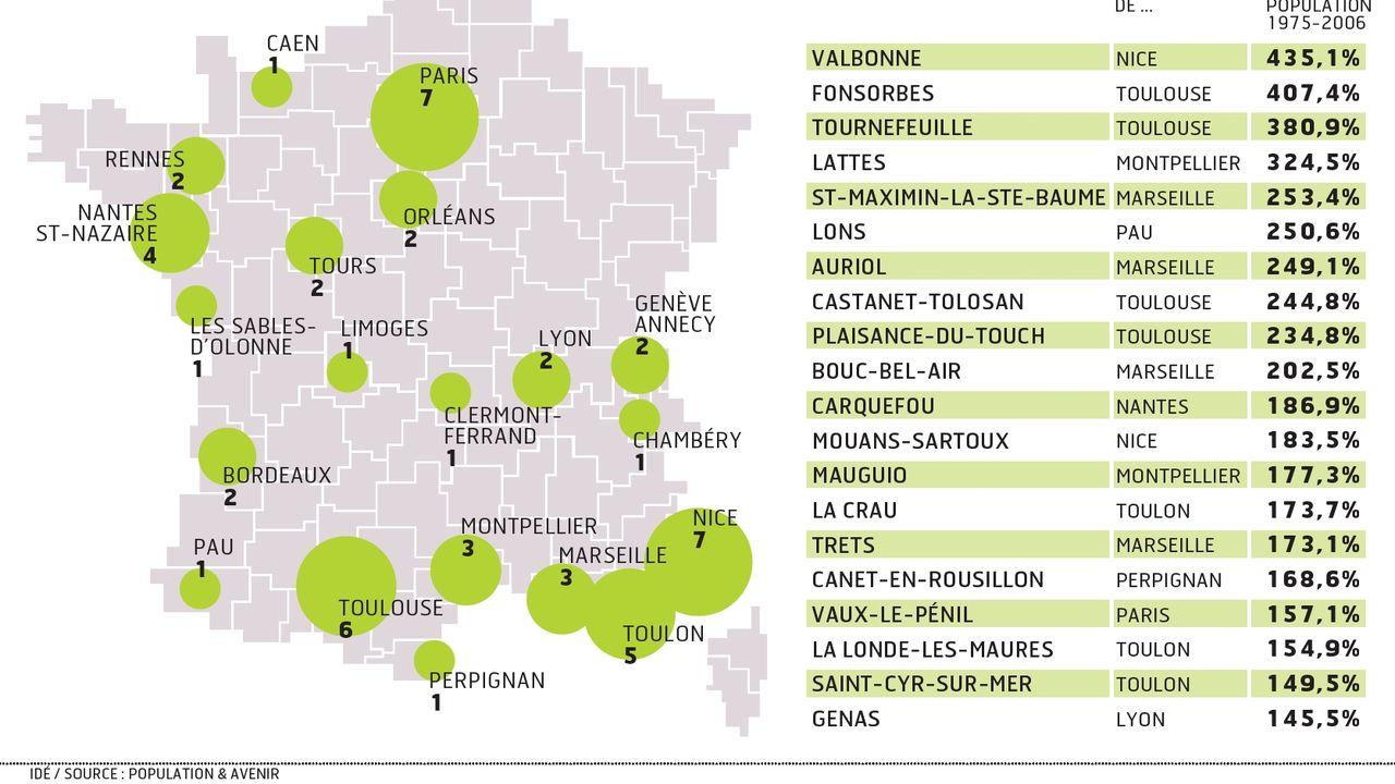 les villes de la france