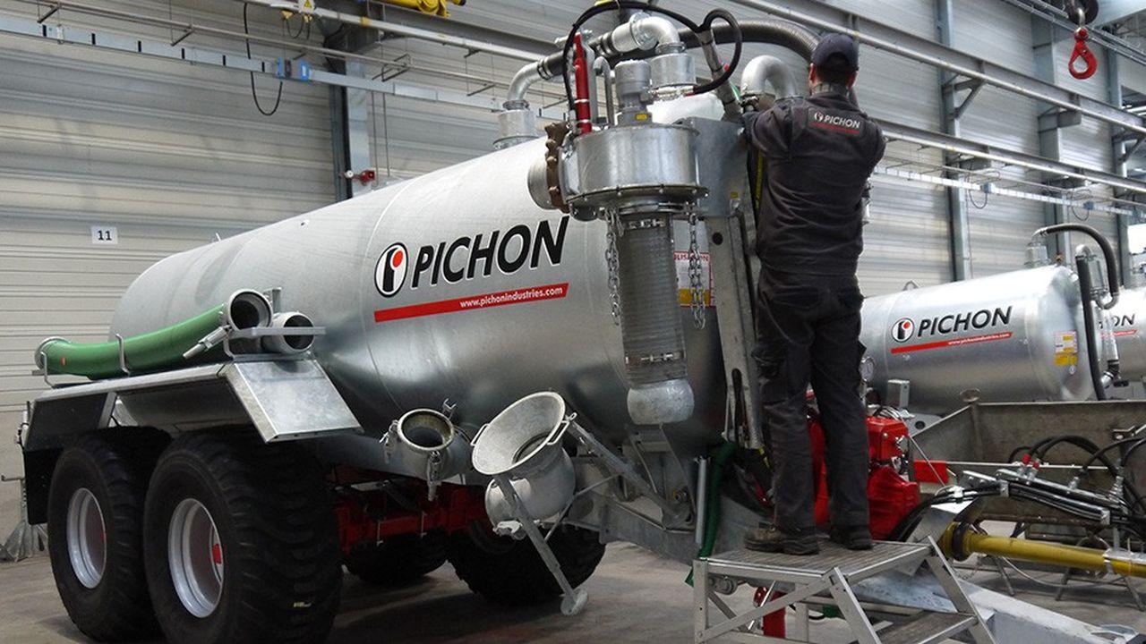 Pichon, spécialiste de la construction de tonnes d'épandage, a construit une usine à Landivisiau en 2016.