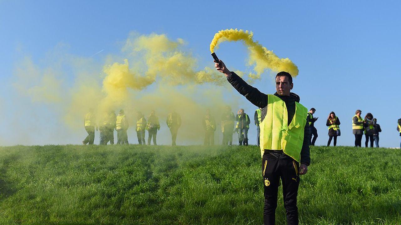 Manifestation de «gilets jaunes» près de Bordeaux, le 17novembre dernier