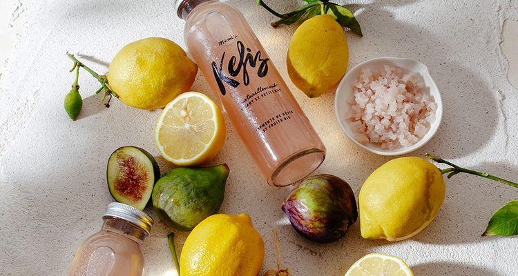 Bien dans la tendance, lajeune marque Kefiz repose sur un soda aux ferments de kéfir et à l'infusion de fruits bio.