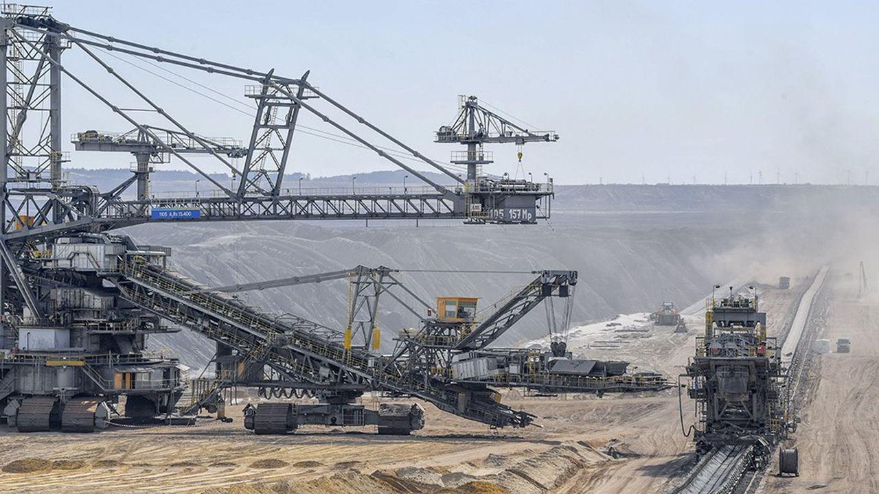Mine de lignite de Welzow, à quelques kilomètres du village de Proschim dans le Brandebourg.