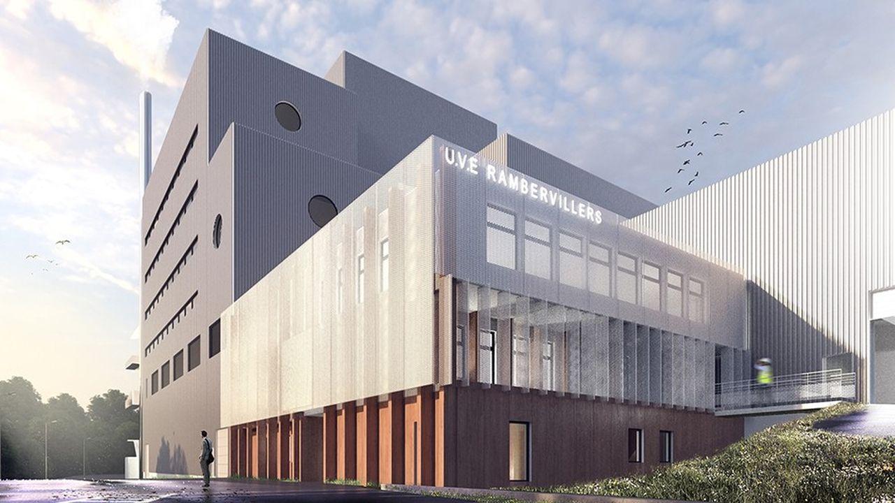 Image du projet d'usine d'incinération de Suez dans les Vosges.