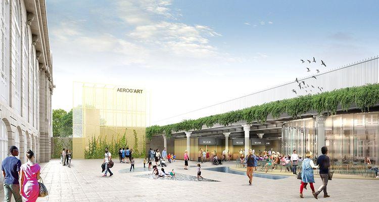 Future gare des Invalides.