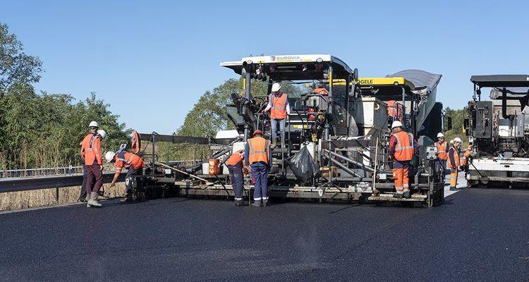 Le premier test de route 100% recyclée d'Eurovia.