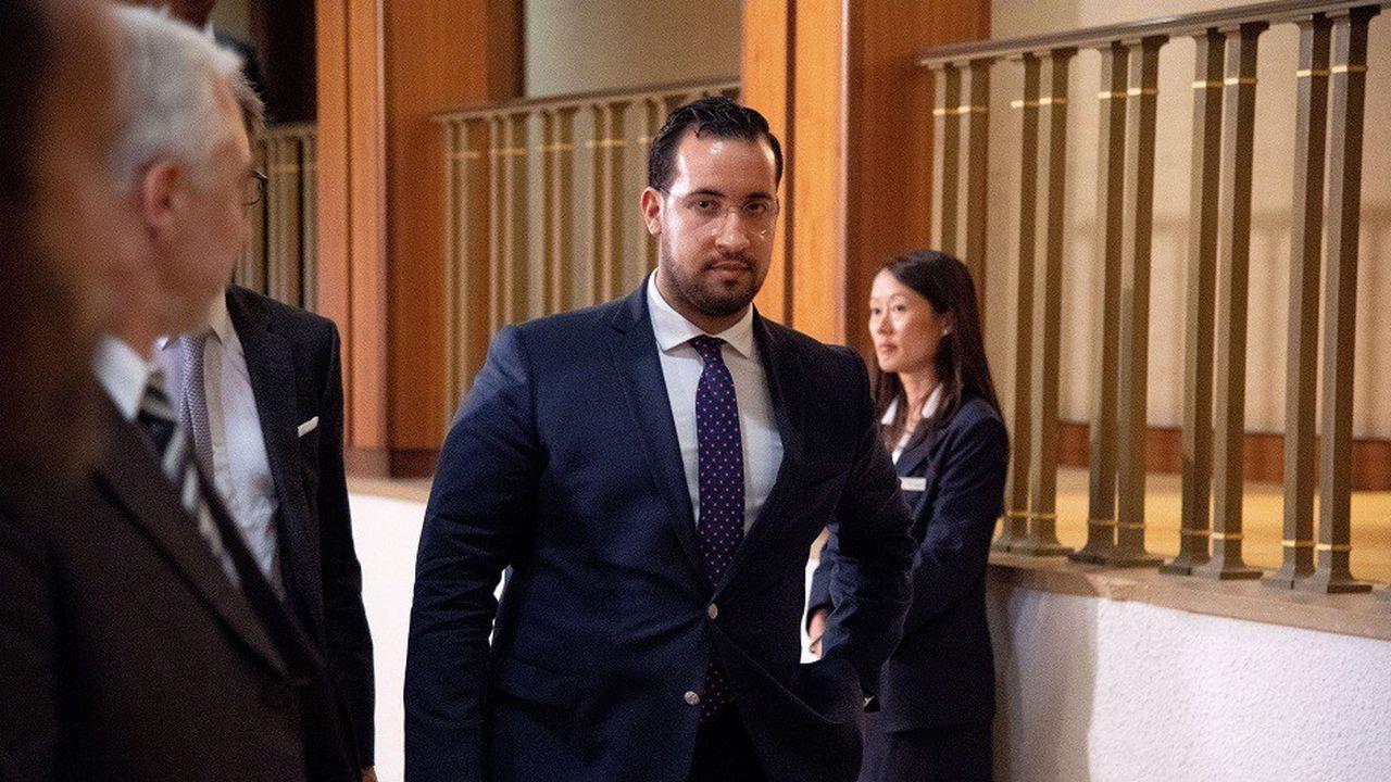 Alexandre Benalla avant son audition par la commission d'enquête du Sénat en septembre2019.