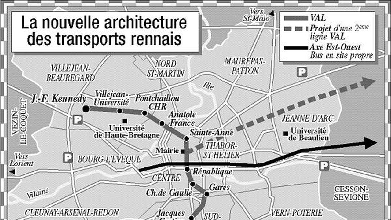 Rennes Joue La Complementarite Entre Le Bus Et Son Futur Metro Les Echos