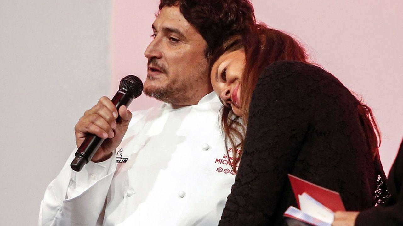 Mauro Colagreco et sa femme Julia.