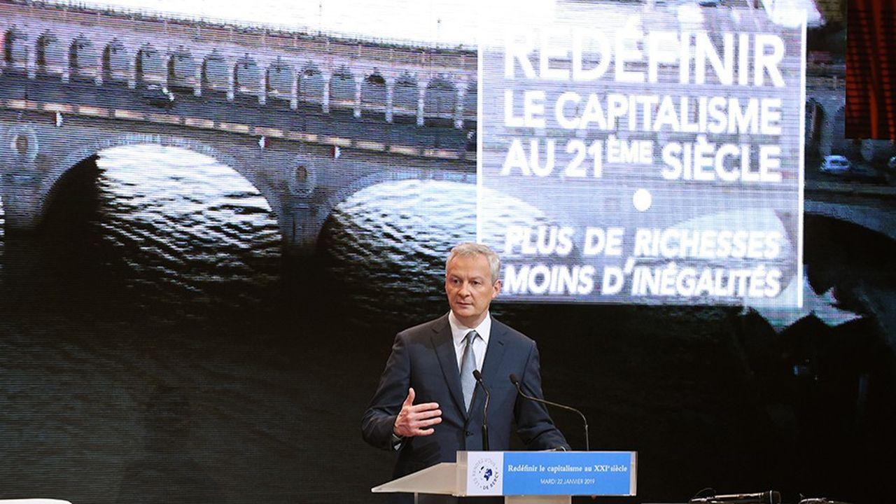 Pour Bruno Le Maire, ministre des Finances, le capitalisme actuel ne survivra pas à la montée des inégalités dans le monde.