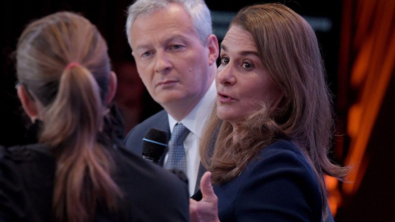 Melinda Gates est venue à Bercyparticiper à une conférence sur la refonte du capitalisme.