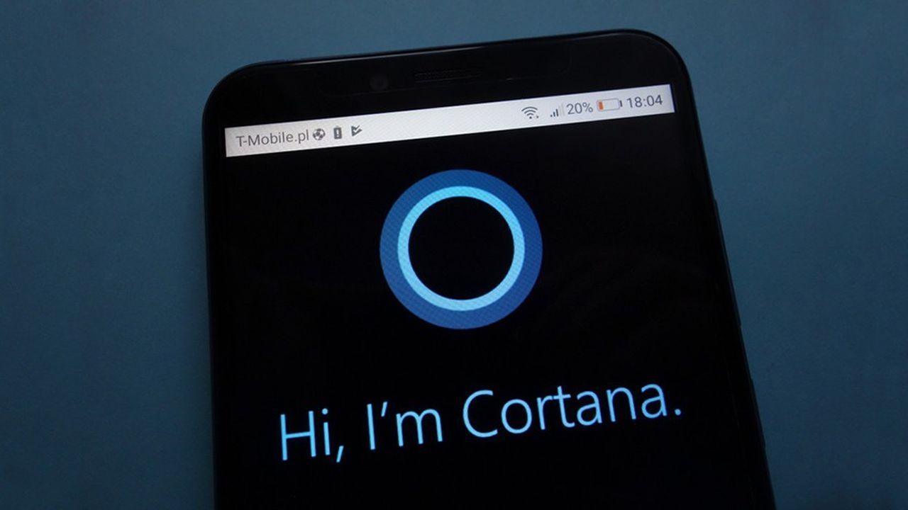 Cortana, l'assistant intelligent de Microsoft, a été lancé en 2014