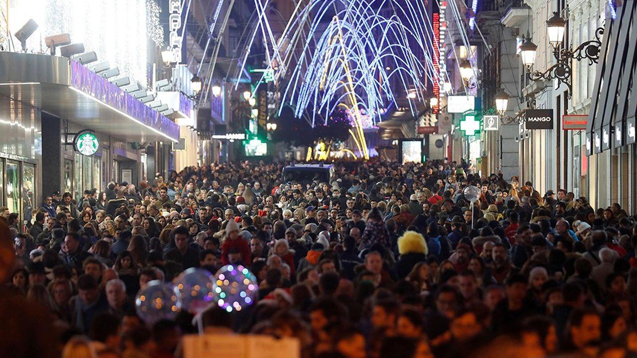 La restriction de l'accès des voitures à la zone baptisée «Madrid Central», au coeur de la capitale espagnole, a été bénéfique pour les magasins pendant la période des fêtes