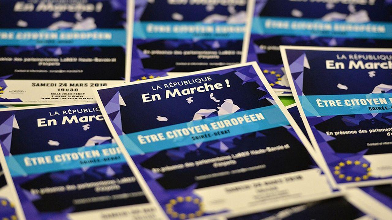 Les élections européennes se tiendront le 26mai 2019. La République En marche prépare sa campagne, mais ne veut pas sauter les étapes.