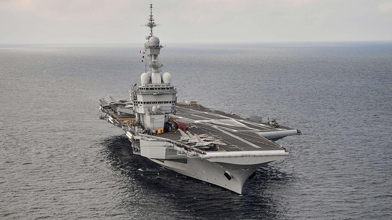 Le porte-avions français «Charles-de-Gaulle», au large de Toulon (Var), le 14novembre 2018.