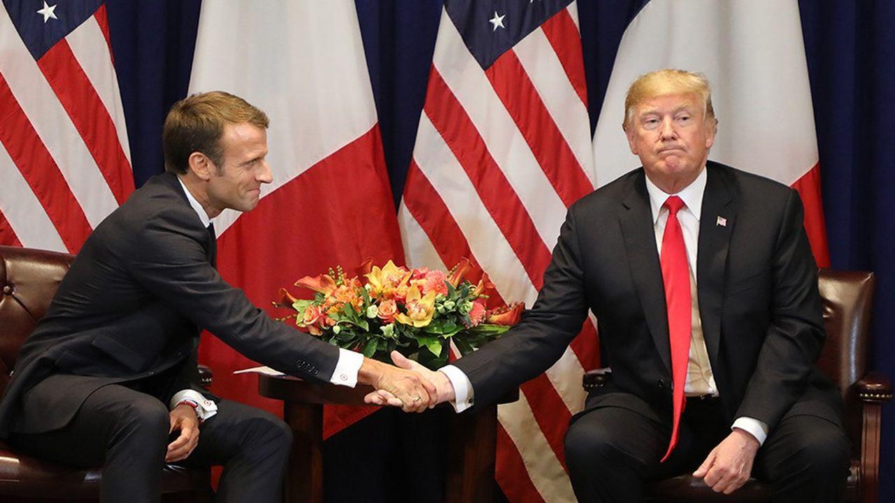 Emmanuel Macron et Donald Trump ont voulu donner au monde une image d'amitié, comme à New York en marge de l'Assemblée générale de l'ONU en septembre2018. Mais il n'est pas certain que le président français soit parvenu à amadouer son homologue américain.