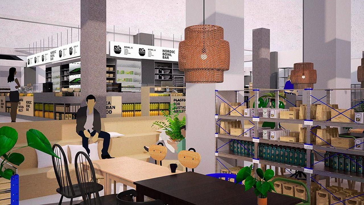 Place de La Madeleine à Paris, le futur Ikea disposera de 150 places assises de restauration.