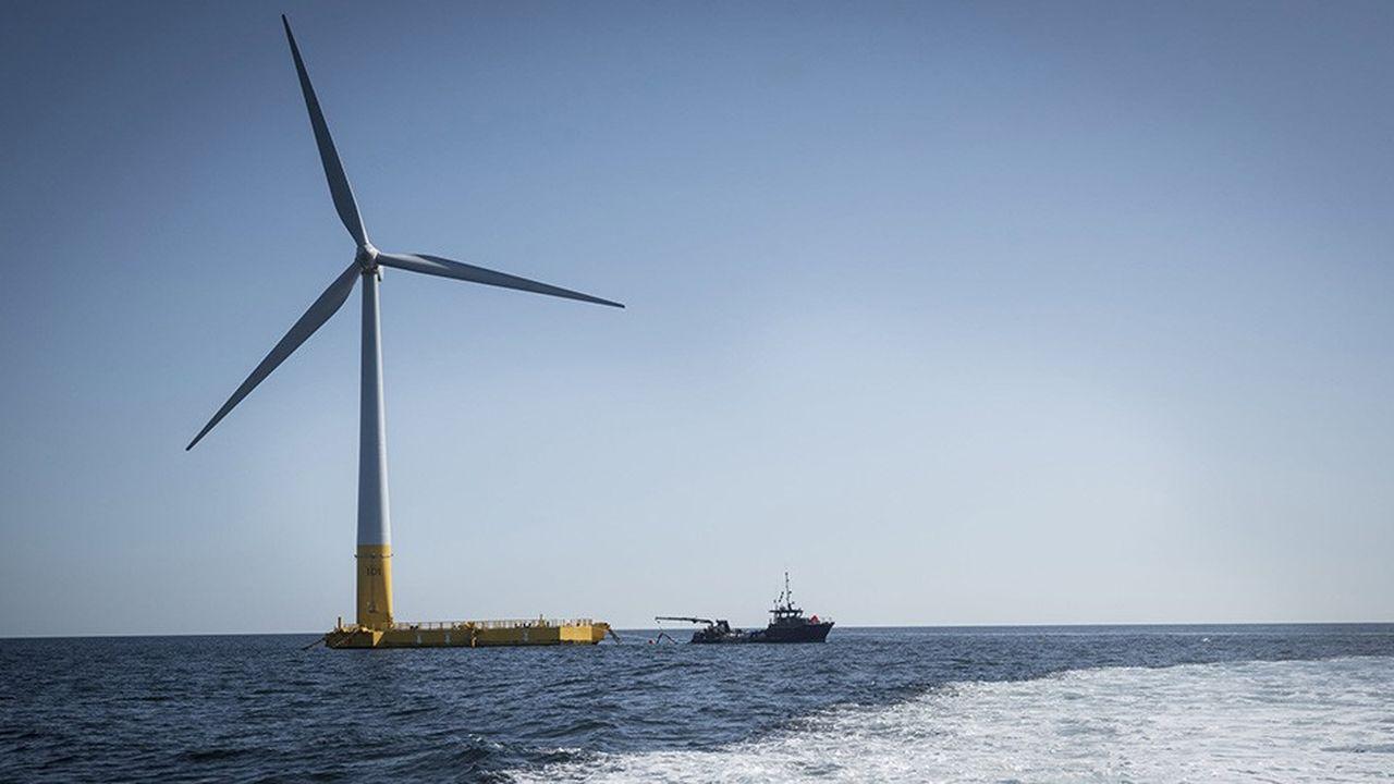 La seule éolienne en mer aujourd'hui présente en France est Floatgen, un projet pilote d'éolien flottant coordonné par Ideol.