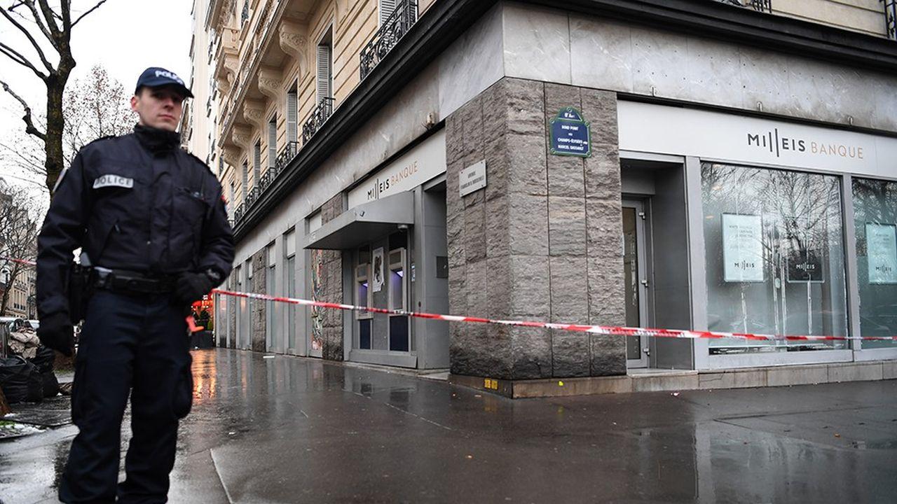 L'attaque de l'agence Milleis du 22janvier près des Champs-Elysée reste un fait isolé.Le nombre de braquages a diminué de… 95% depuis 1996.