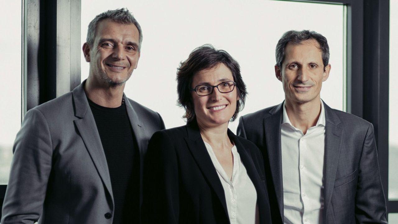 De gauche à droite : Marc Brimeux, Sandra Françonnet et Gabriel Pacheco.