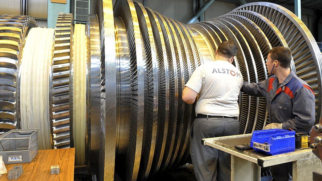 Atelier de montage des turbines à vapeur Alstom Power, désormais propriété de General Electric