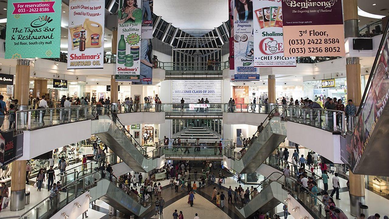 Un mall de Calcutta. La classe moyenne indienne de standards internationaux pourrait n'être que de 50millions de personnes.