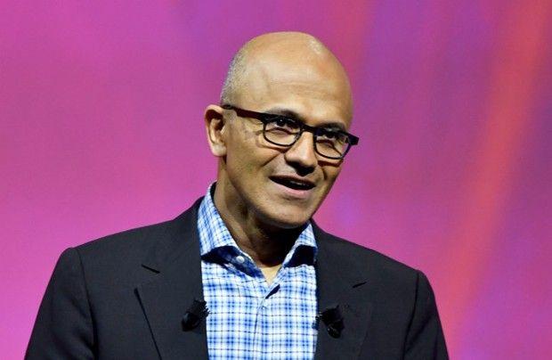 Satya Nadella, patron de Microsoft, l'un des patrons les plus marquants du Forum cette année