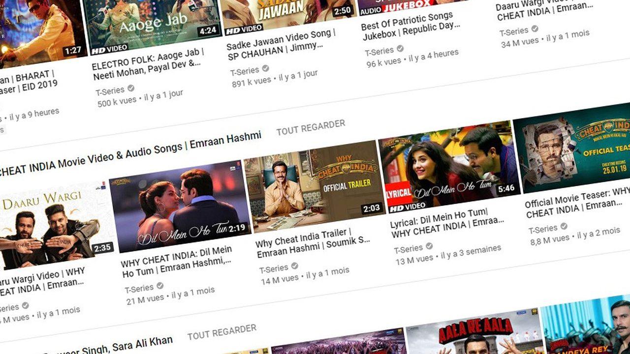 T-Series compte plus de 82millions d'abonnés à sa chaîne YouTube.