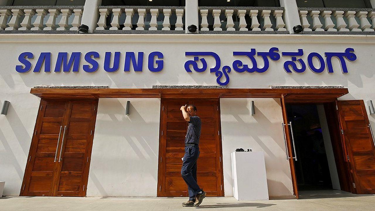 Un nouveau magasin Samsung en Inde.