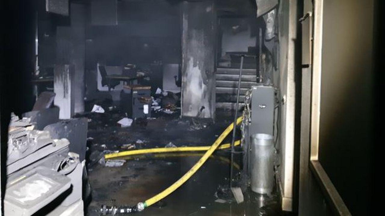 L'incendie n'a pas fait de blessés.