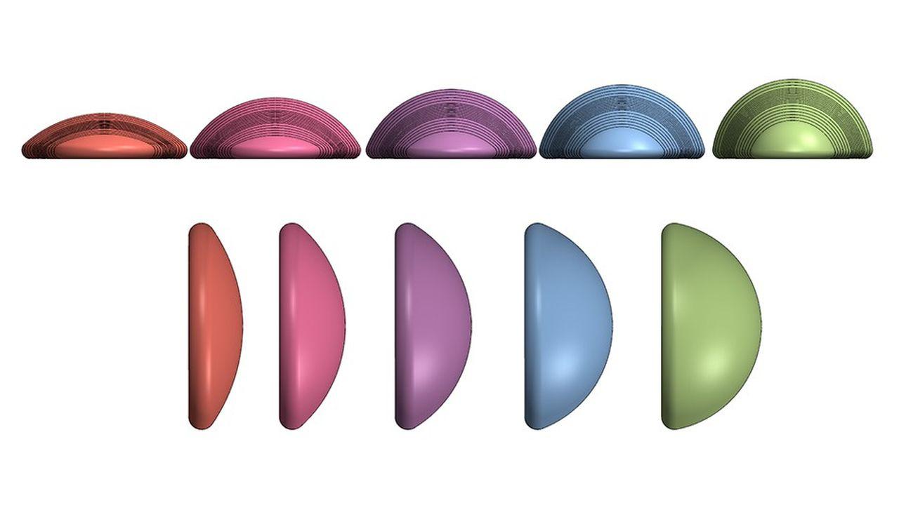 Pour les adapter à la physionomie de chaque patiente, 330 modèles de prothèses, microtexturées et lisses, sont proposés par Symatese.